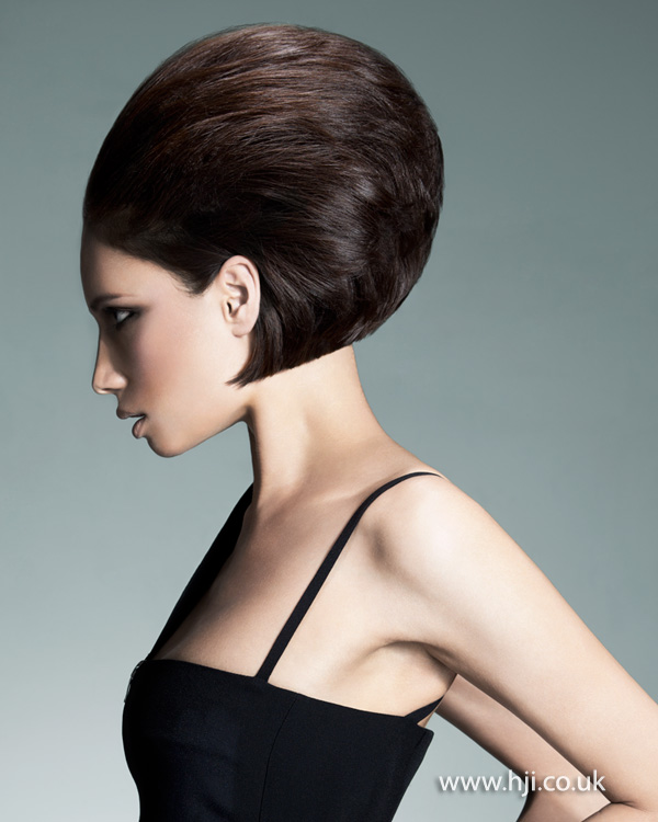 Striking brunette beehive by Melanie Tudor