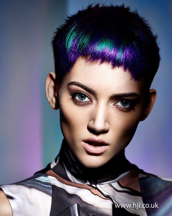 Oil slick inspired colour by Sophie Beattie