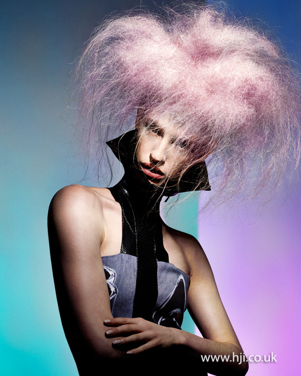 Candyfloss inspired hairstyle by Sophie Beattie