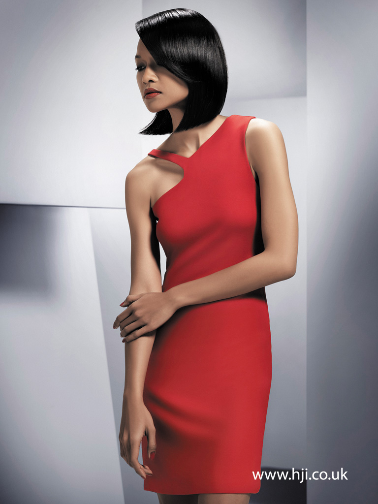 2015 shiny black bob hairstyle