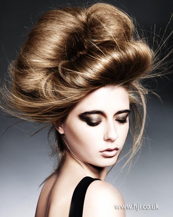 Brunette chignon style by Michelle Rooney