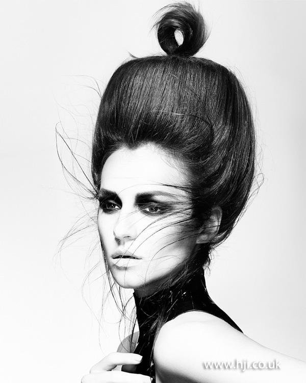 2015 voluminous beehive updo with loop ponytail detail