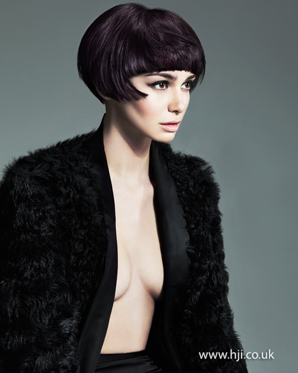 Sleek bob with visor fringe by Melanie Tudor