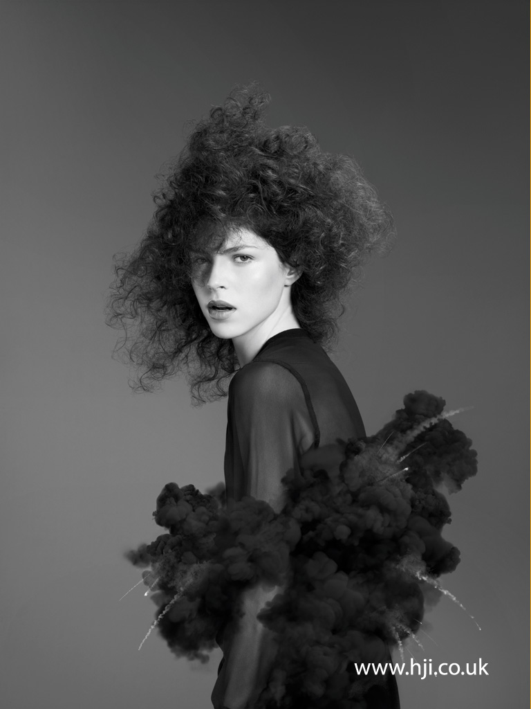 2015 avant garde textured curls hairstyle