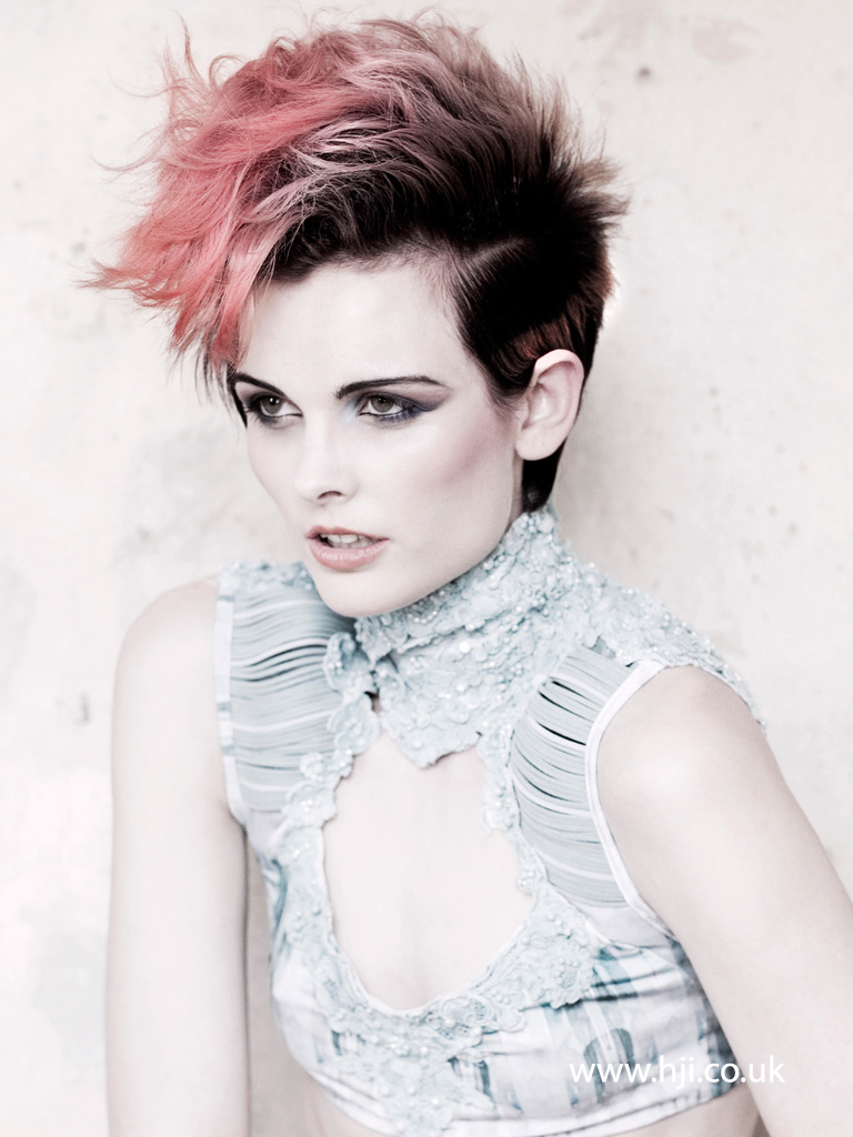 2015 Pixie With Pastel Pink Tipped Mohawk