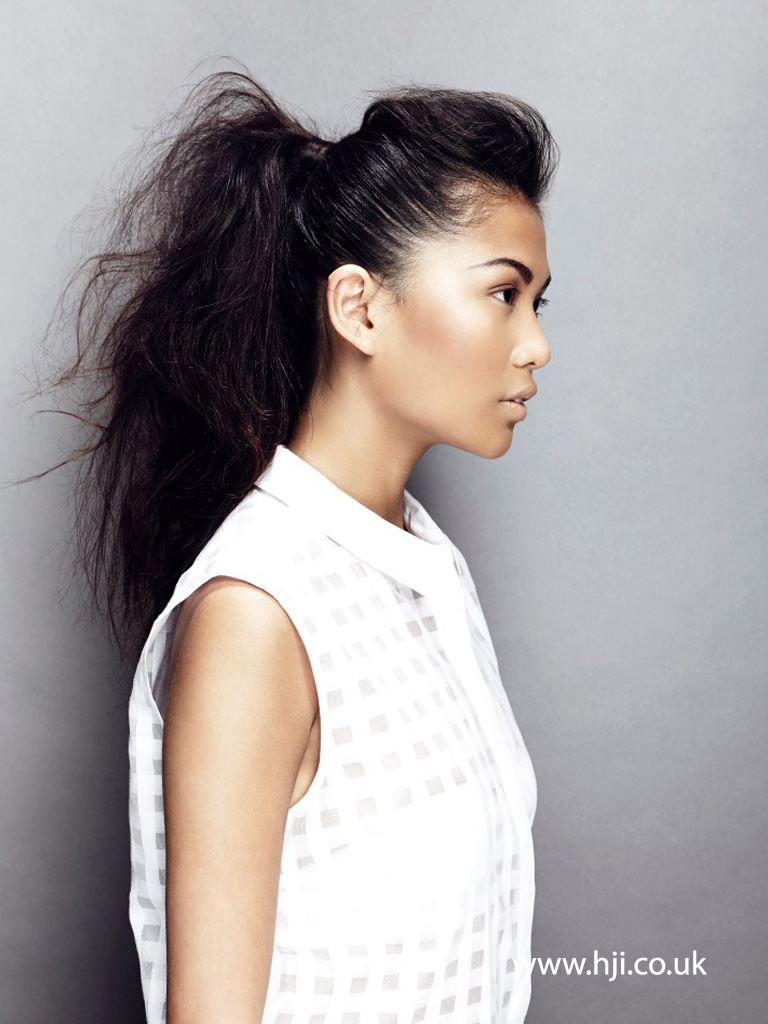 2015 Textured Ponytail with Quiff