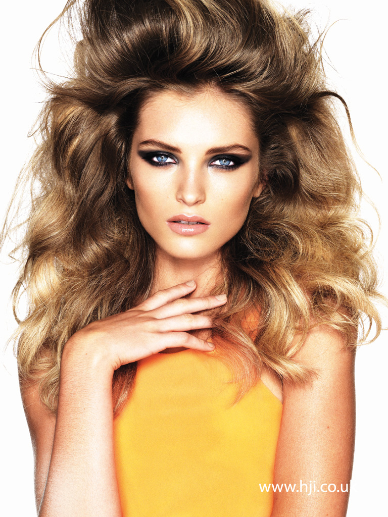 2015 big bronde volume hairstyle with tall quiff