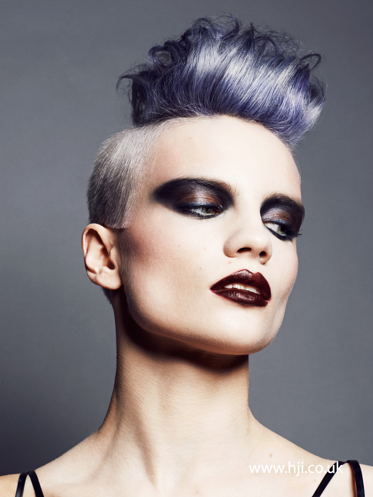 2015 purple rockabilly quiff hairstyle