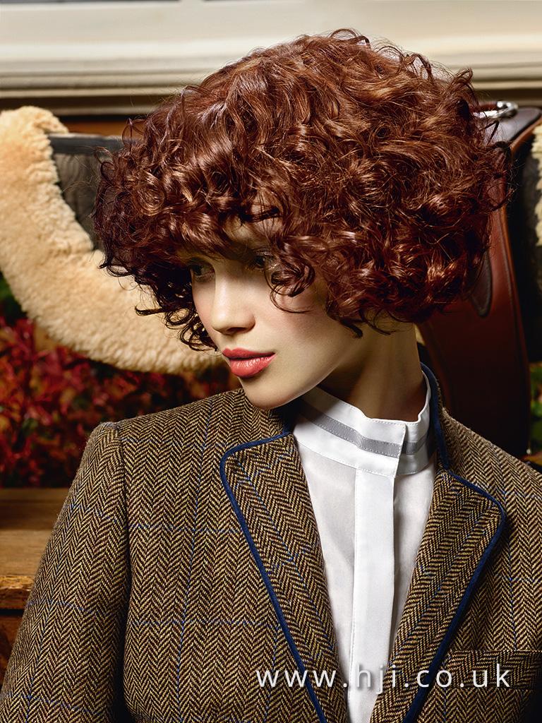 2015 copper curly bob