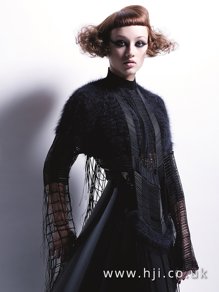 2015 curly dark blonde bob hairstyle with sleek fringe
