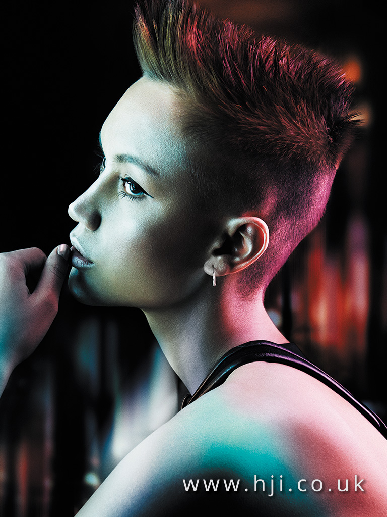 2015 dark choppy flat top hairstyle with skinfade detail