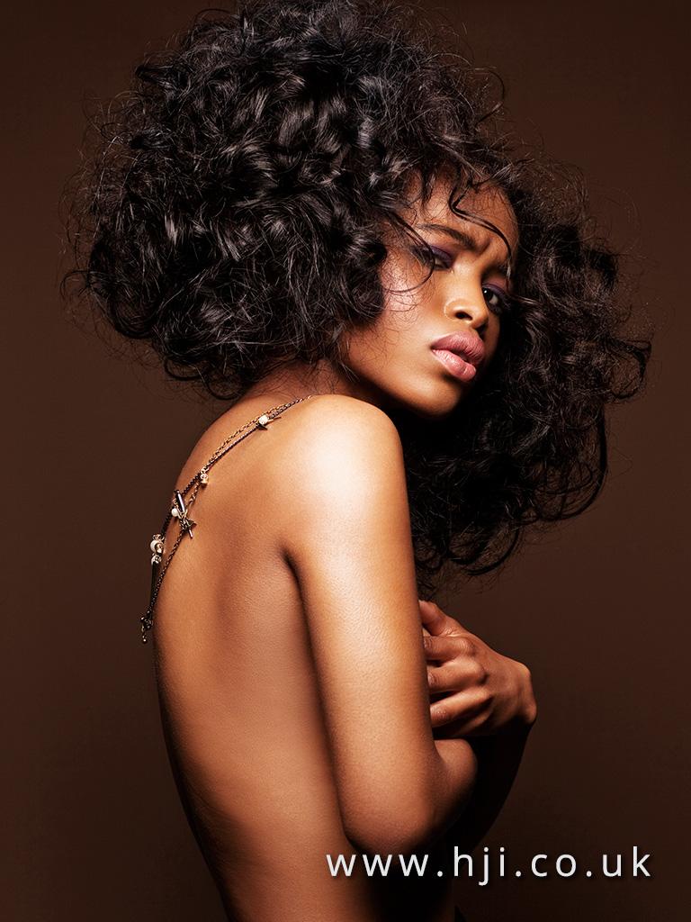 2016 Very dark Brown Voluminous glam curls