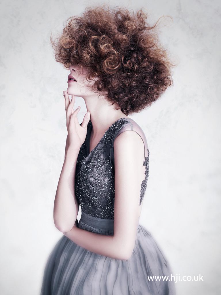 2016 ushanka inspired brunette curl hairstyle