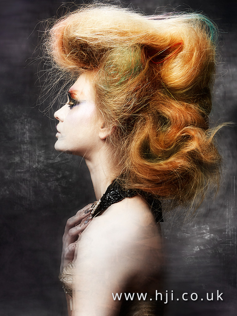 2016 big redhead avant garde hairstyle with messy finish 1