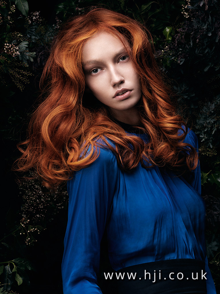2016 long redhead hairstyle with voluminous waves