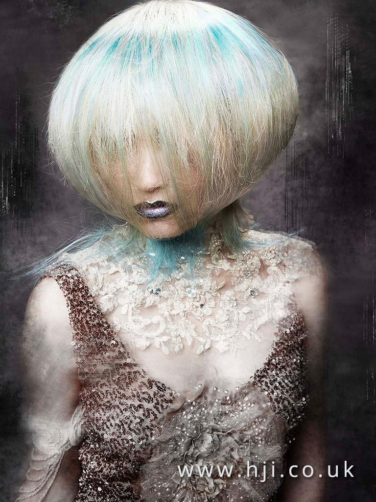 2016 white and blue ballon avant garde hairstyle 1