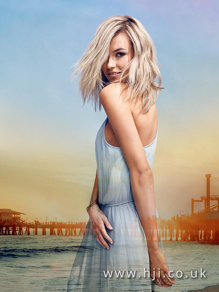 2016 blonde beachy waves hairstyle