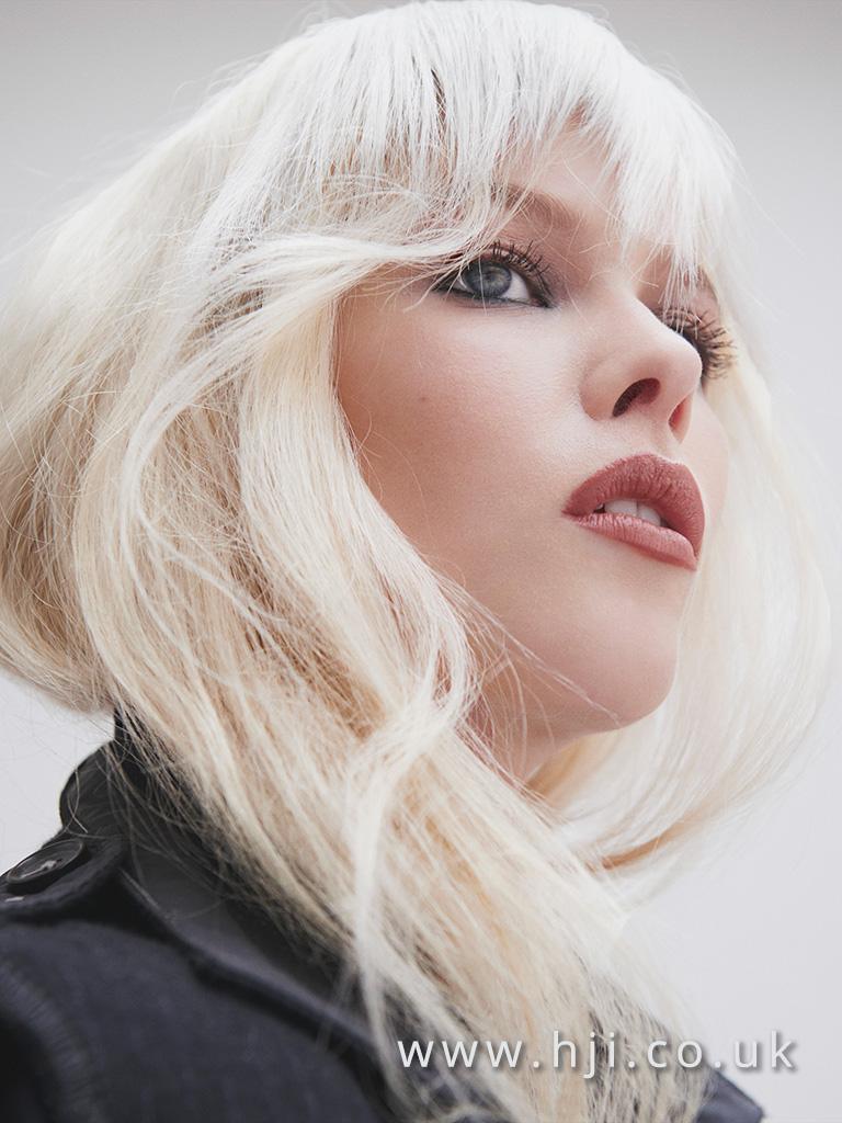 2016 platinum blonde soft style with choppy fringe