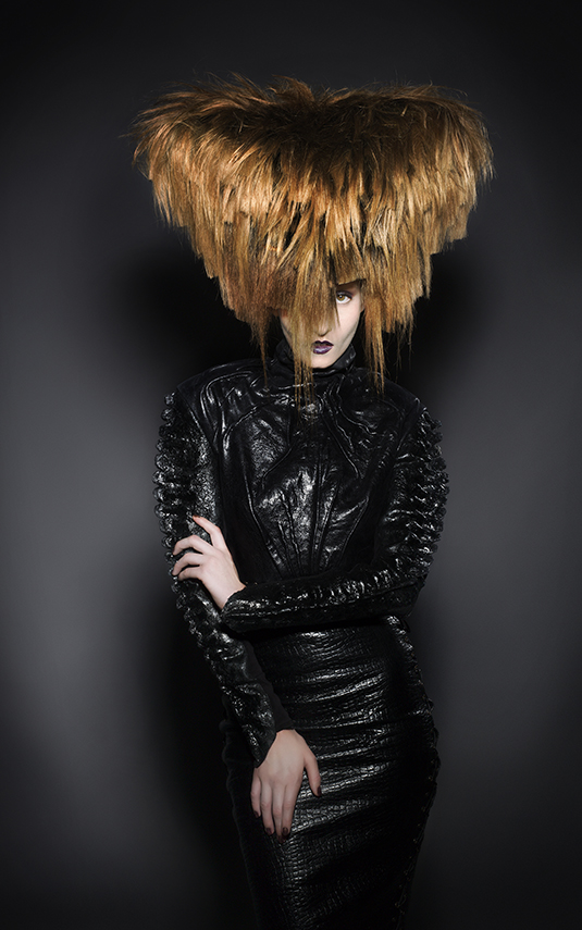 Huge Avant Garde Hair Up with Redhead Hair pieces