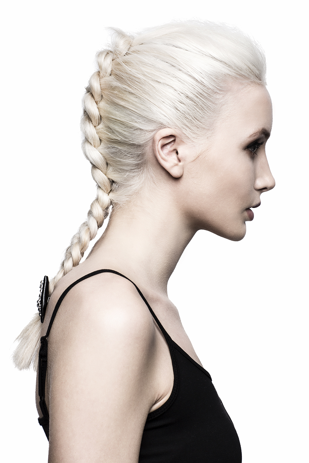 Platinum blonde Dutch braid