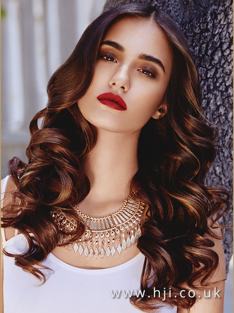 Andrew Barton Long Bronde Sleek Glamour Waves with Centre Parting