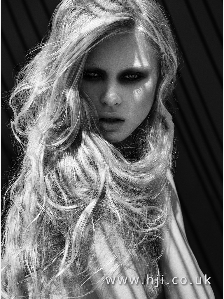 Andrew Barton Long Very Light Blonde Beachy Texture