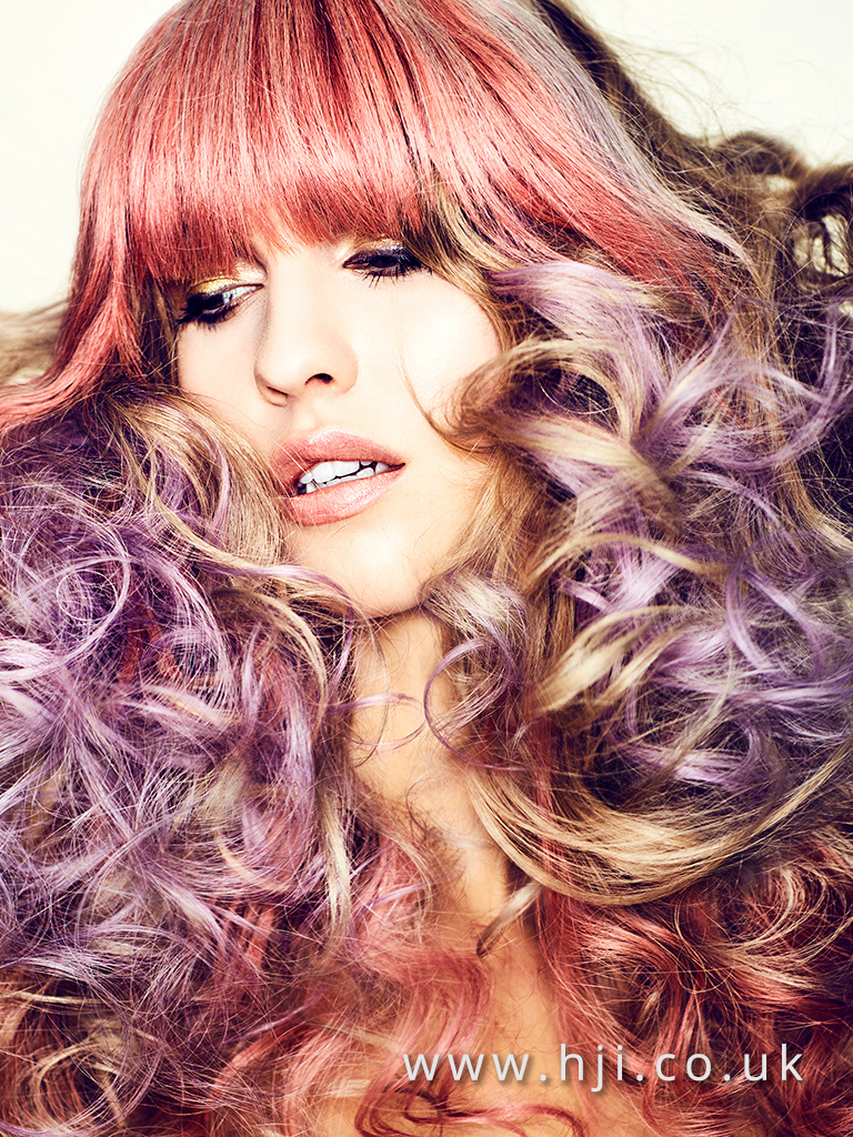 Long glamorous curls with full fringe