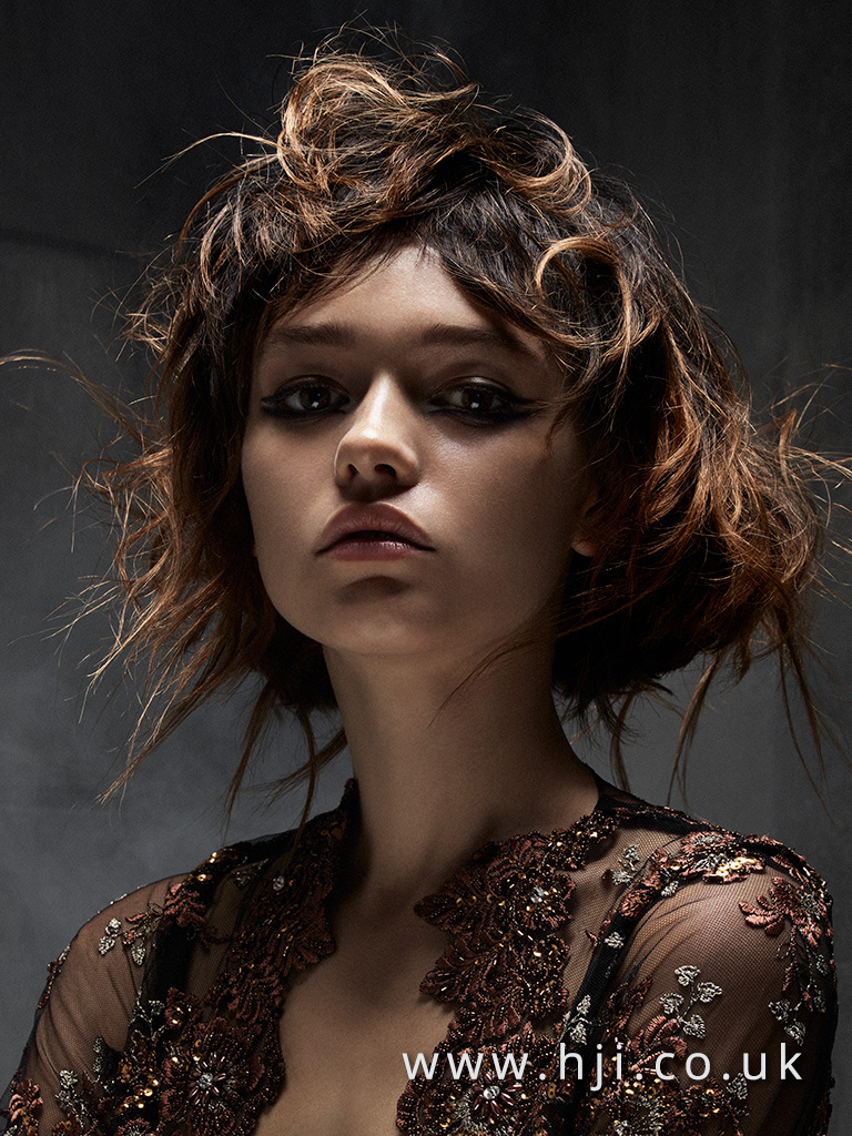 2016 Rush Editorial Mid Length Style with Lighter Slices and Messy texture