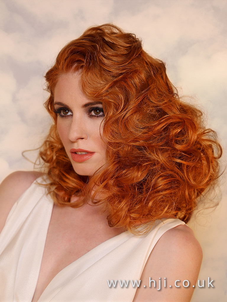 2017 Patrick Cameron Goddess Collection Vintage Copper Mid Length Finger Waves
