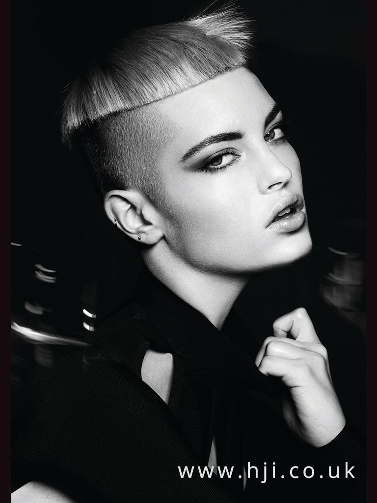 2017 blonde geometric crop hairstyle