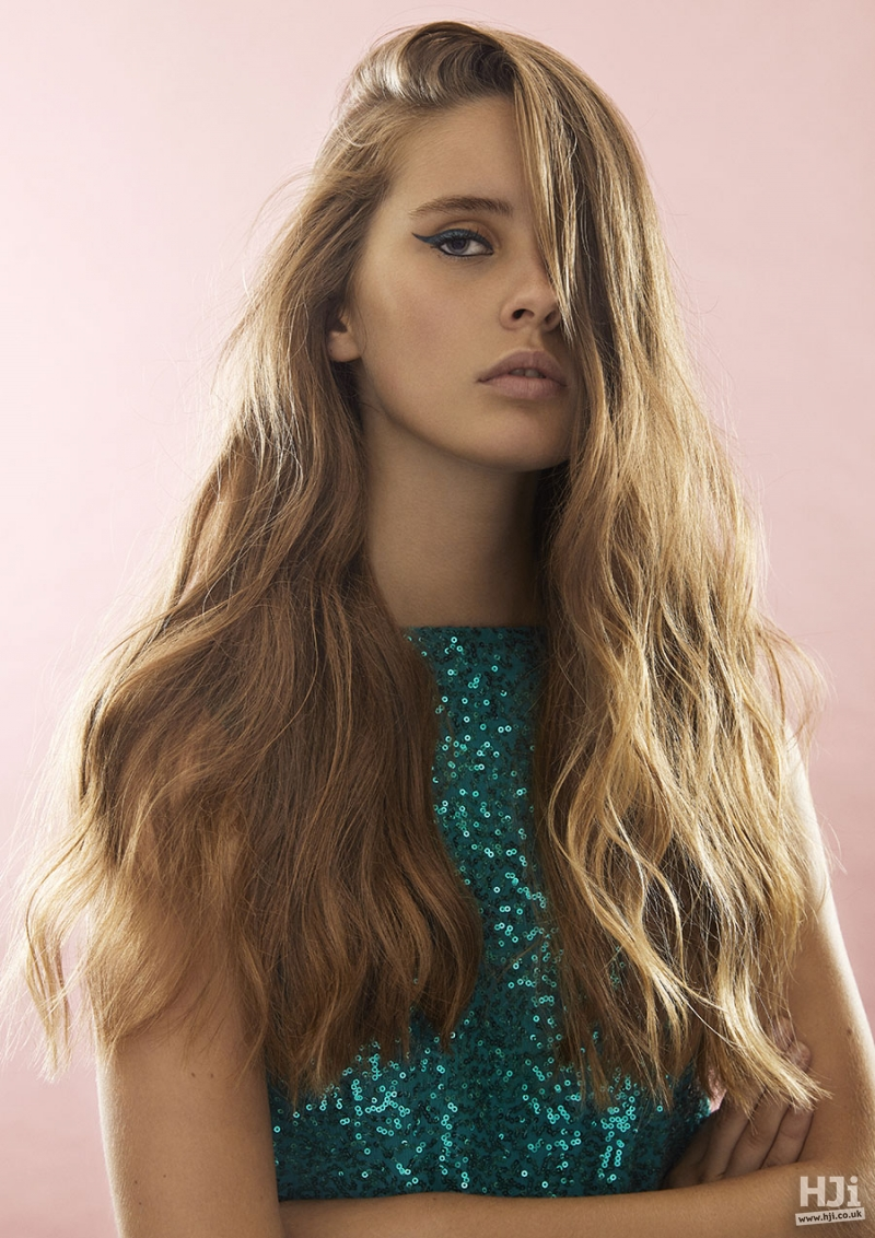 Light brown natural hairstyle