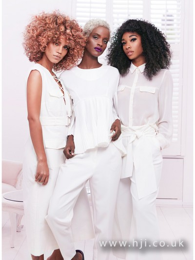 A selection of Afro hair looks from Michelle Thompson for Avlon