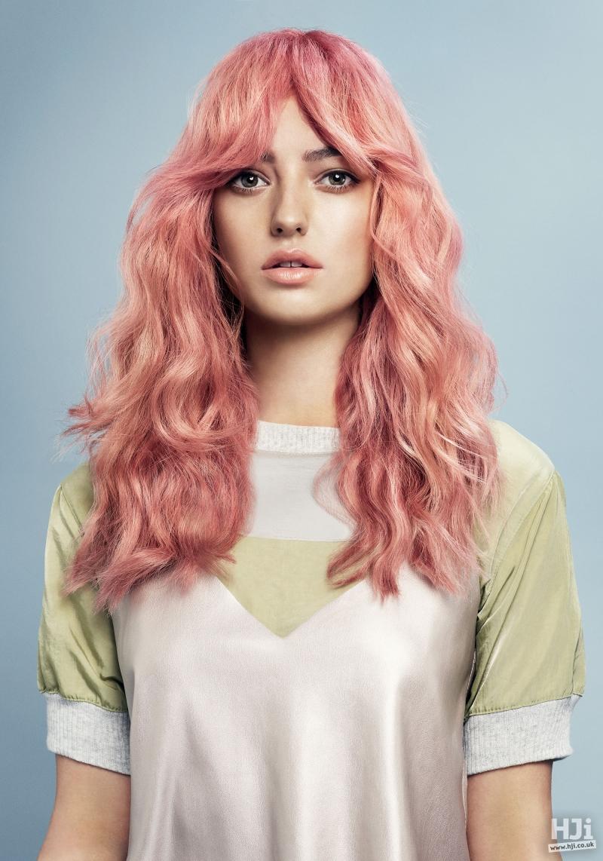 Light pink long waves