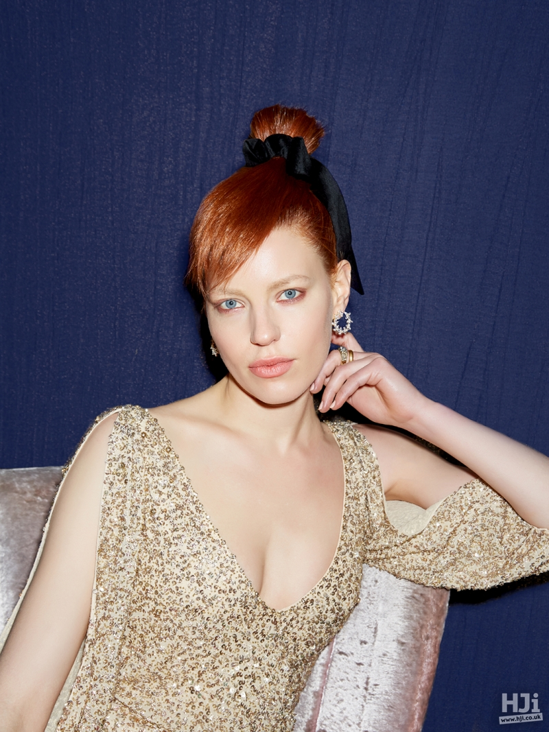 red hair updo