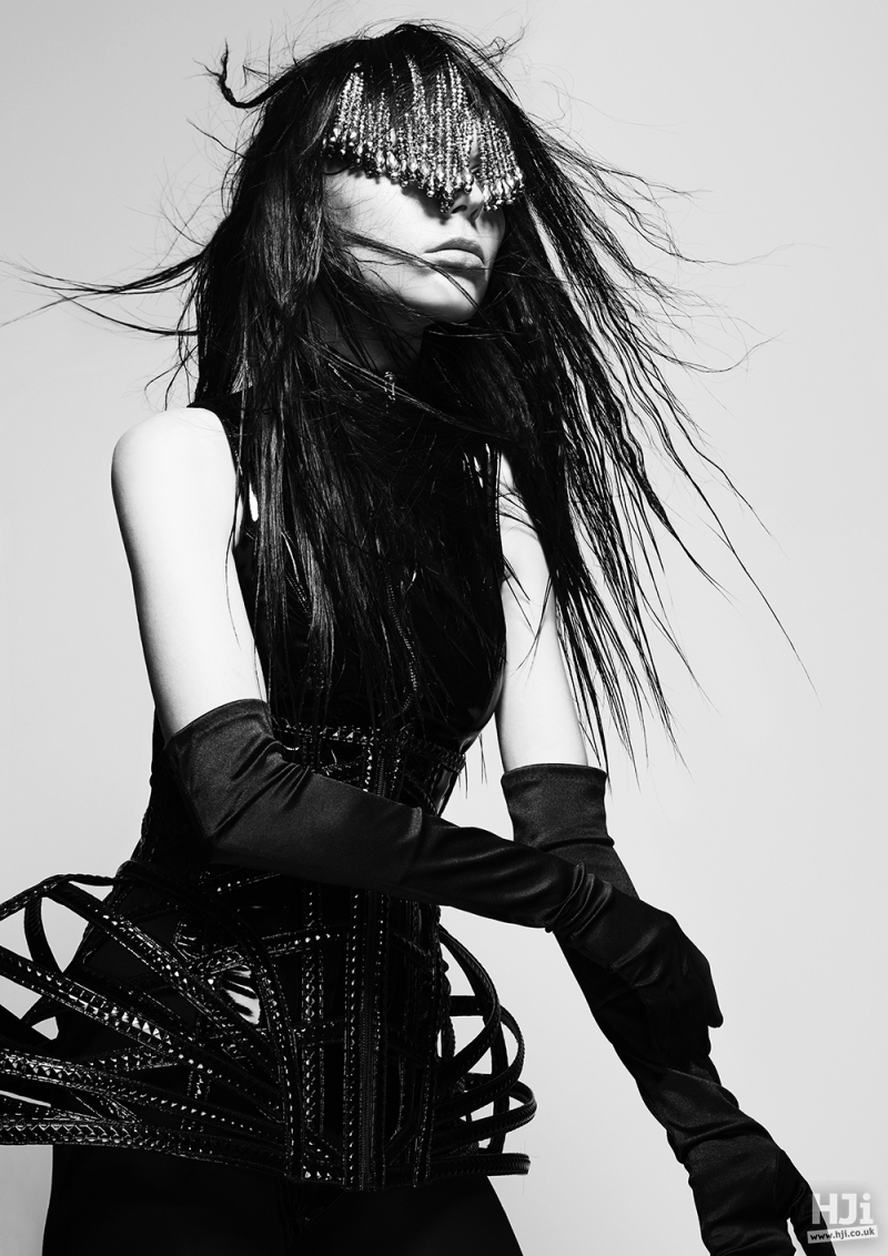 Creatively textured heavy fringe with accessories