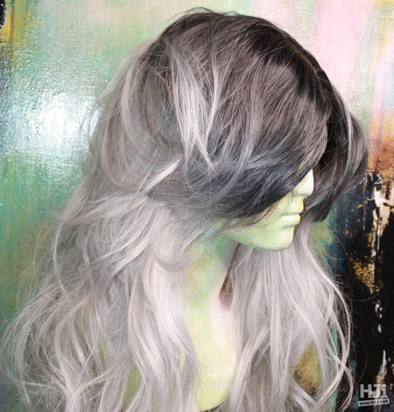 Creative grey colouring on natural texture