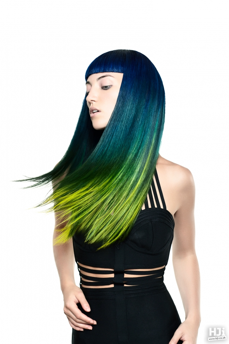 Long sleek style with creative colour
