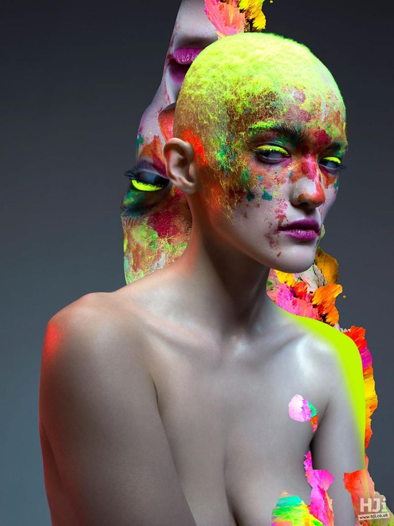Creative colour crop hairstyle