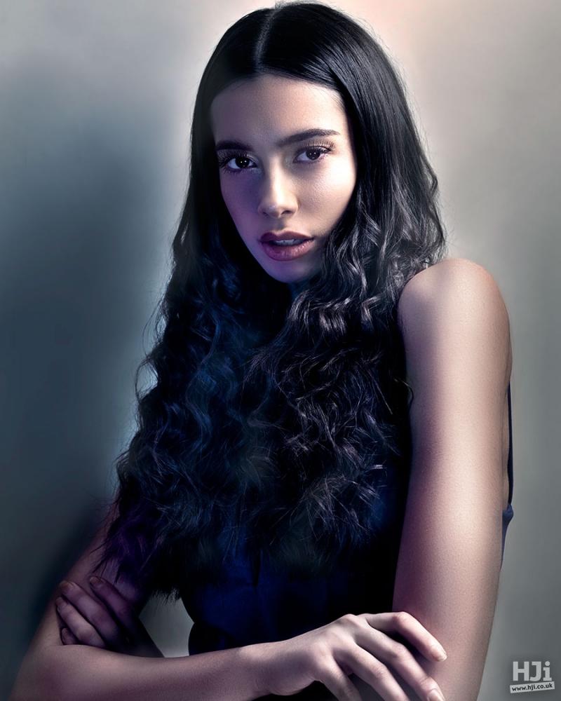 Black long wavy hairstyle