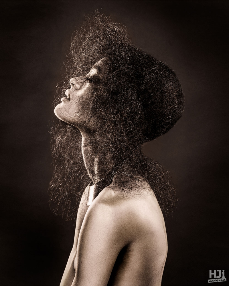 Uniquely shaped afro