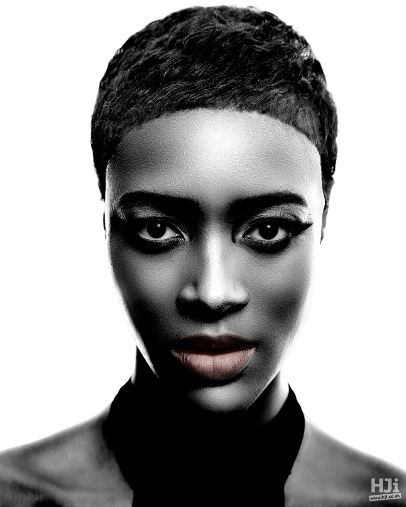 Cropped hair with natural texture