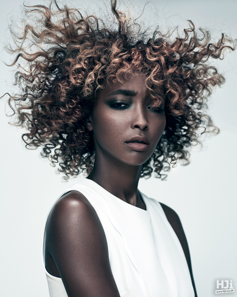 Spiral curl afro