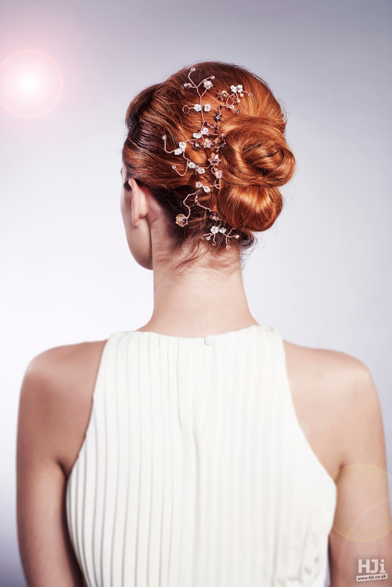 Bridal updo with two buns