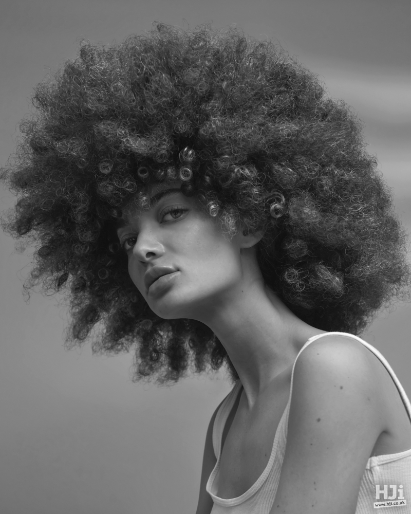 Afro with fringe