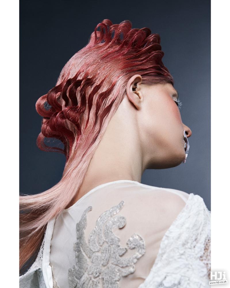Looped pink hair