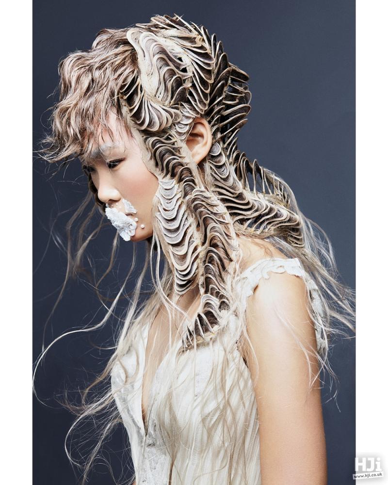 Sculpted long hair