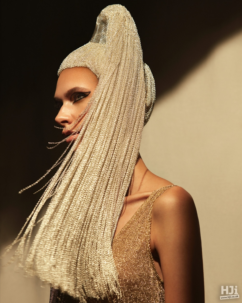 Chain high ponytail