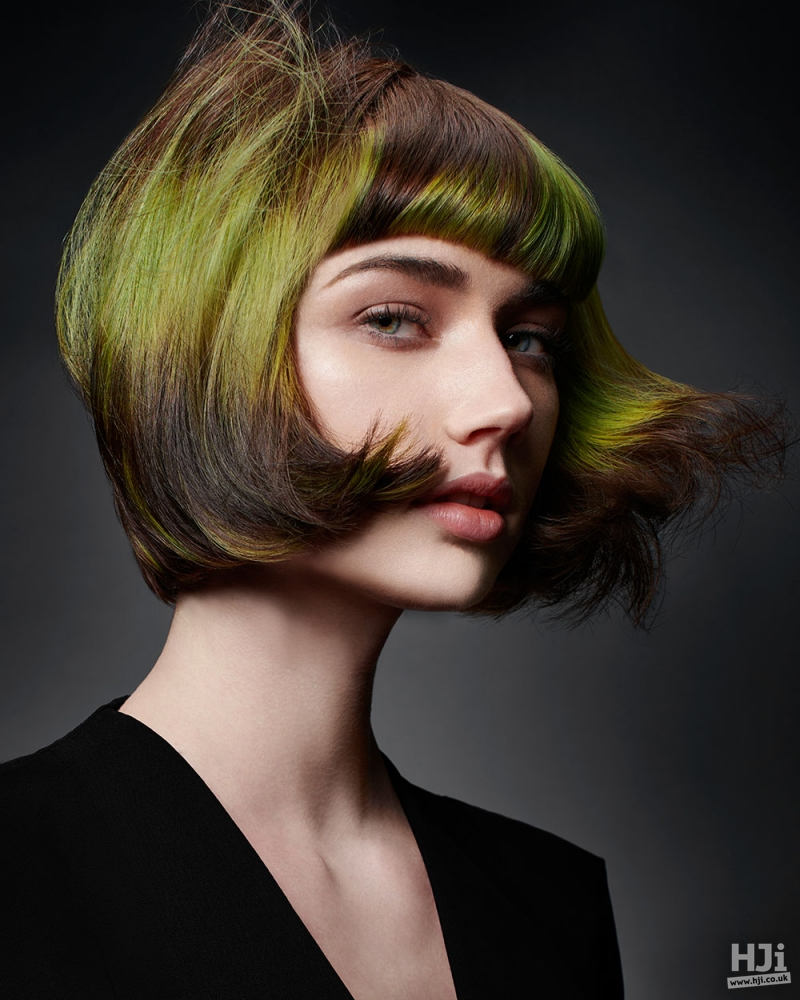 Green shaded bob