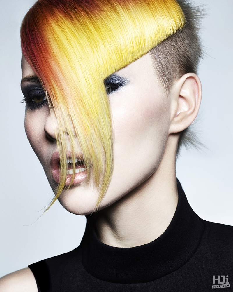 Multi-colour long fringe