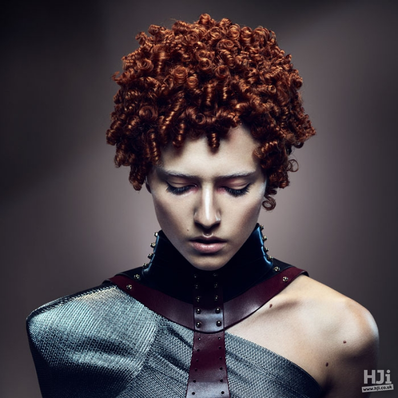 Redhead with spiral curls
